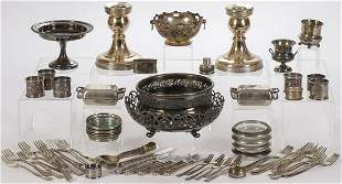VINTAGE SILVER PLATE GROUP