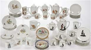 VINTAGE GERMAN PORCELAIN CHILD'S TEA SETS