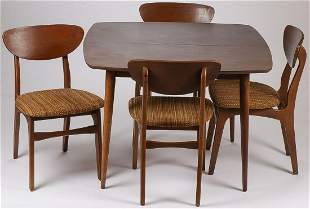 DANISH MODERN STYLE CHAIRS & TABLE