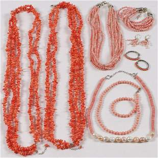NICE GROUP CORAL JEWELRY