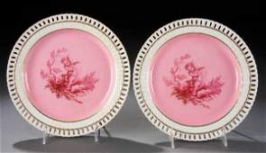 337: TWO MINTON DECORATED PLATES mid 19th century, wit