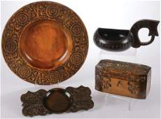 FINE RUSSIAN ARTS AND CRAFTS WOOD GROUP
