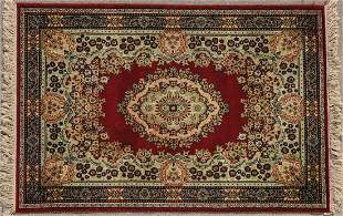 A LARGE INDIA RUG C. 1980