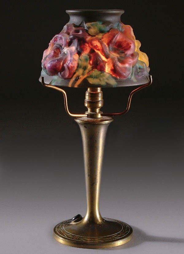6: A GOOD PAIRPOINT PUFFY BOUDOIR LAMP, circa 1910,