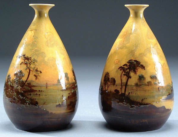 647: A GOOD PAIR OF FREDERICK RIDGWAY FOR WARDLE POTTE