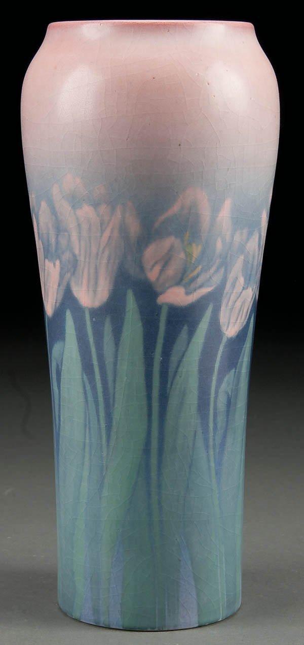 5: A ROOKWOOD ART POTTERY VELLUM VASE, dated 1922