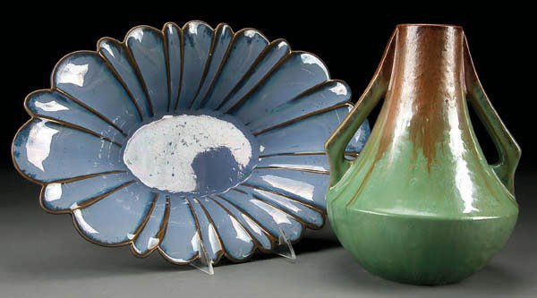 7: A TWO PIECE FULPER ART POTTERY GROUP early 20th c