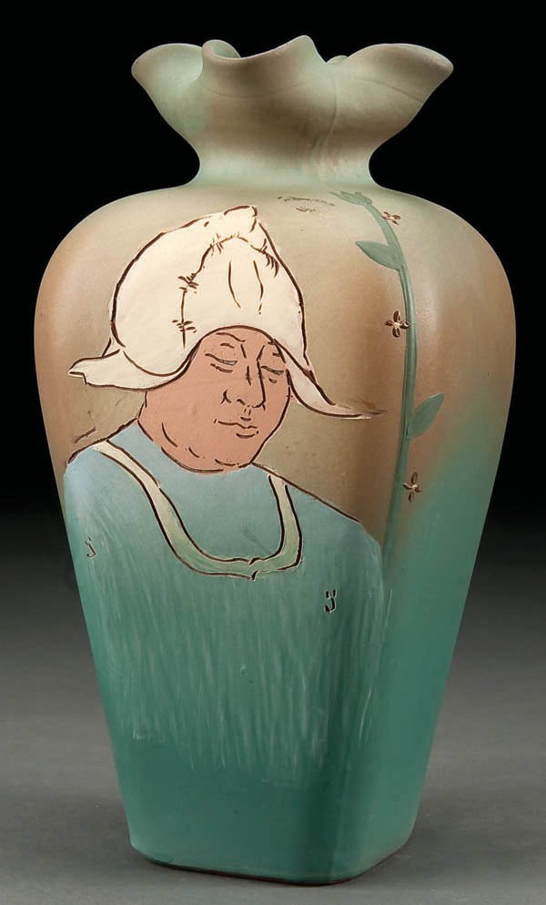 22: A WELLER ''DICKENSWARE'' ART POTTERY VASE early