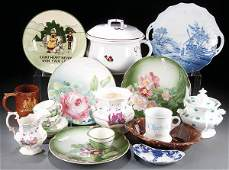 258 A VINTAGE PORCELAIN AND CERAMICS GROUP late 19th