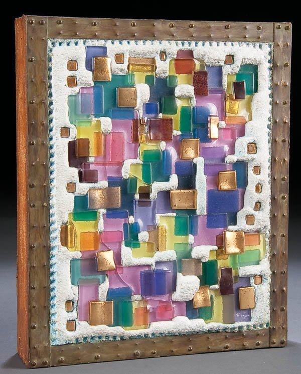 323: A FRANCES AND MICHAEL HIGGINS ART GLASS SCULPTURE