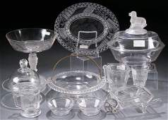 362 11 PIECE VICTORIAN PATTERN GLASS GROUP late 19th