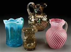 380 A FOURPIECE VICTORIAN GLASS GROUP