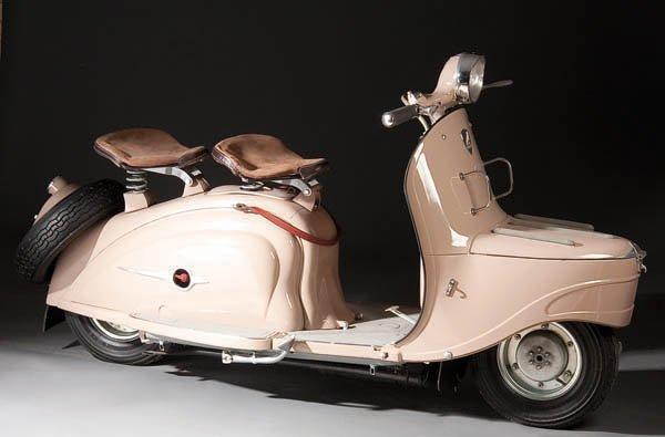 604: A VERY FINE 1959 PEUGEOT MODEL S57 MOTORCYCLE/SCO