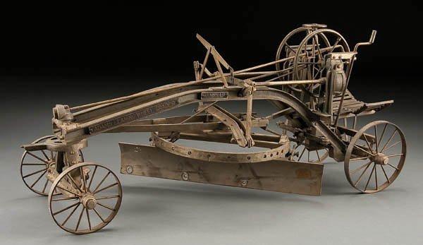609: AN ADAMS LEANING WHEEL GRADER, circa 1900, factor