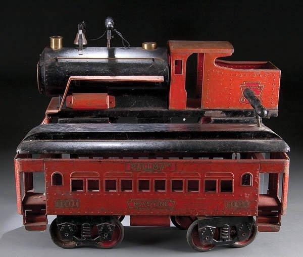 610: A KEYSTONE RIDE-ON RAILROAD ENGINE #6400, early 2