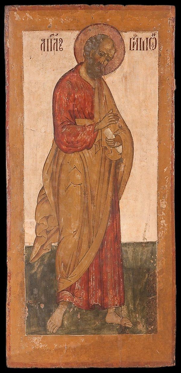 3: A LARGE RUSSIAN ICON OF THE APOSTLE SIMON