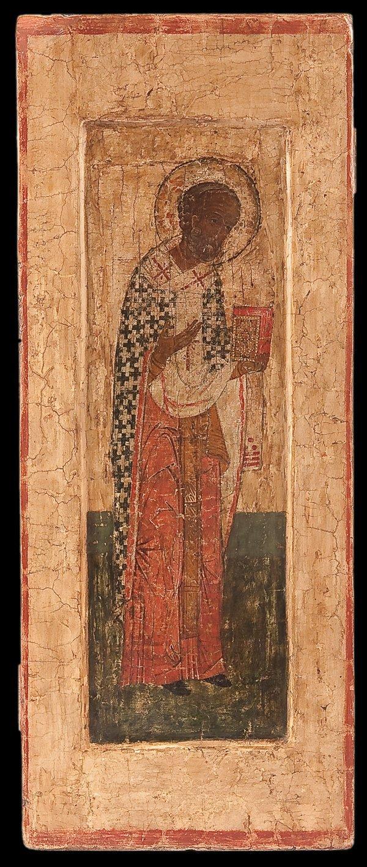 7: A RUSSIAN ICON OF ST. NICHOLAS, 16TH CENTURY