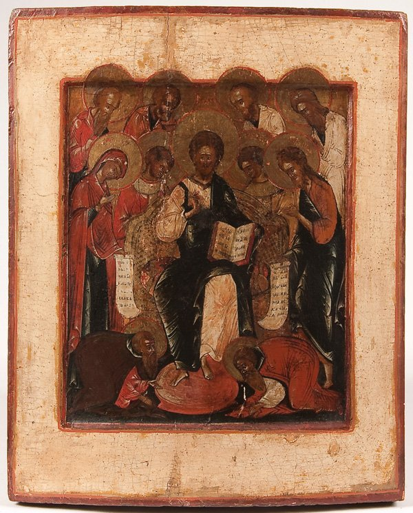 17: A RUSSIAN ICON OF THE EXTENDED DIESIS, YAROSLAVL