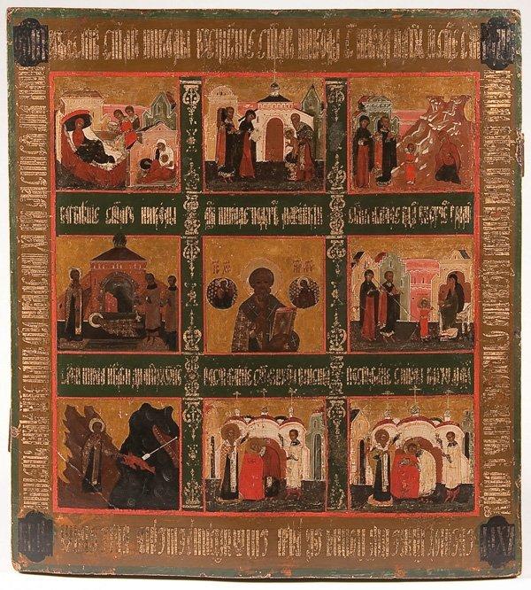 20: A RUSSIAN ICON OF SAINT NICHOLAS
