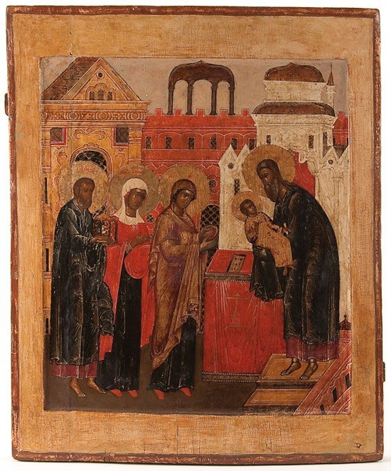 21: A RUSSIAN ICON OF THE MEETING OF THE LORD