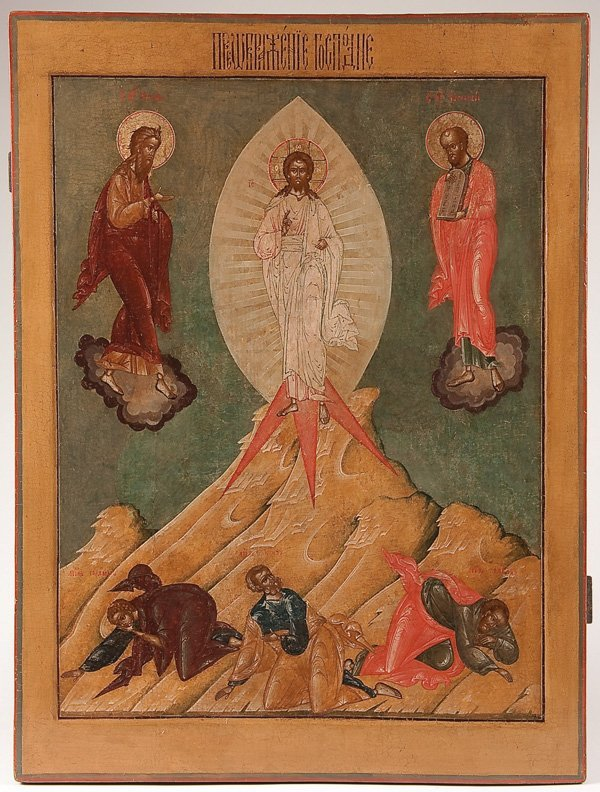 22: A LARGE RUSSIAN ICON OF THE TRANSFIGURATION