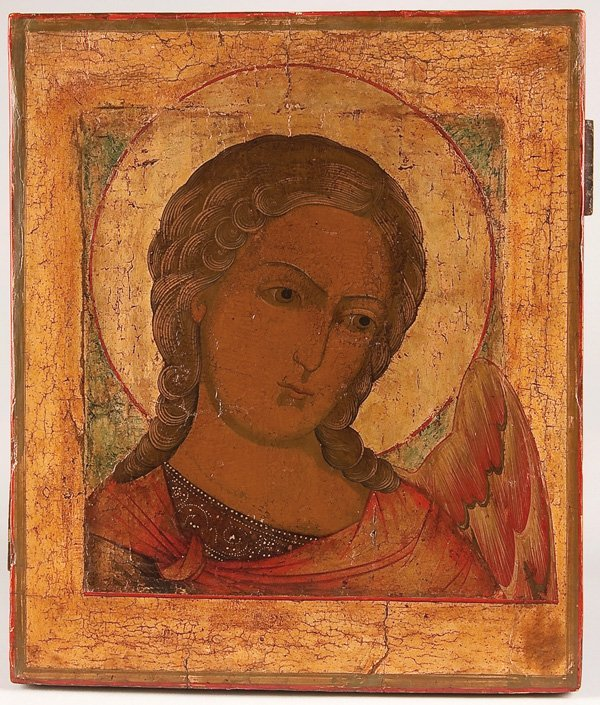 23: A RUSSIAN ICON OF AN ARCHANGEL MIKHAIL