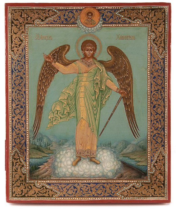 115: A SIGNED RUSSIAN ICON OF THE GUARDIAN ANGEL