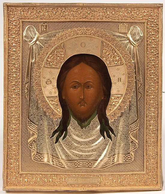 484: A RUSSIAN ICON OF THE IMAGE NOT MADE BY HANDS
