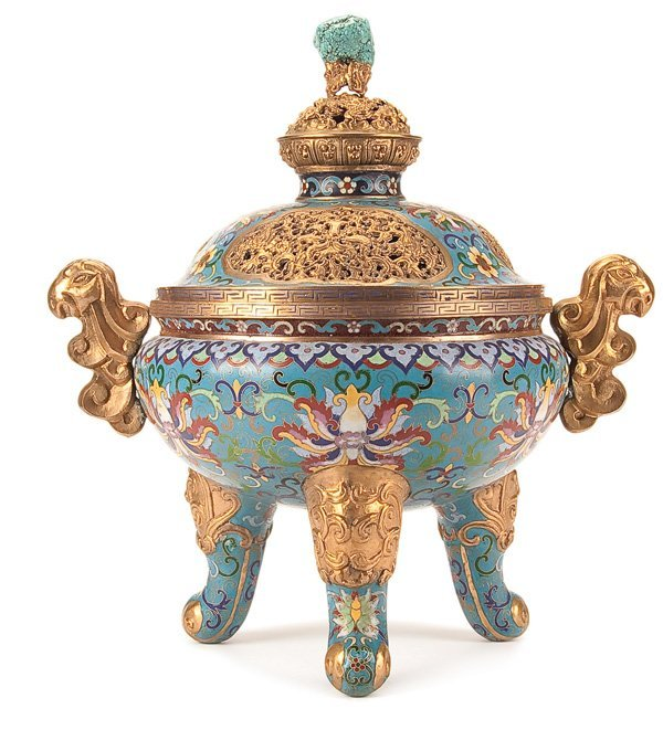 604: A CHINESE CHIEN LUNG STYLE CENSER