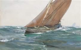 664 PAINTING BY MONTAGUE DAWSON British 18901973