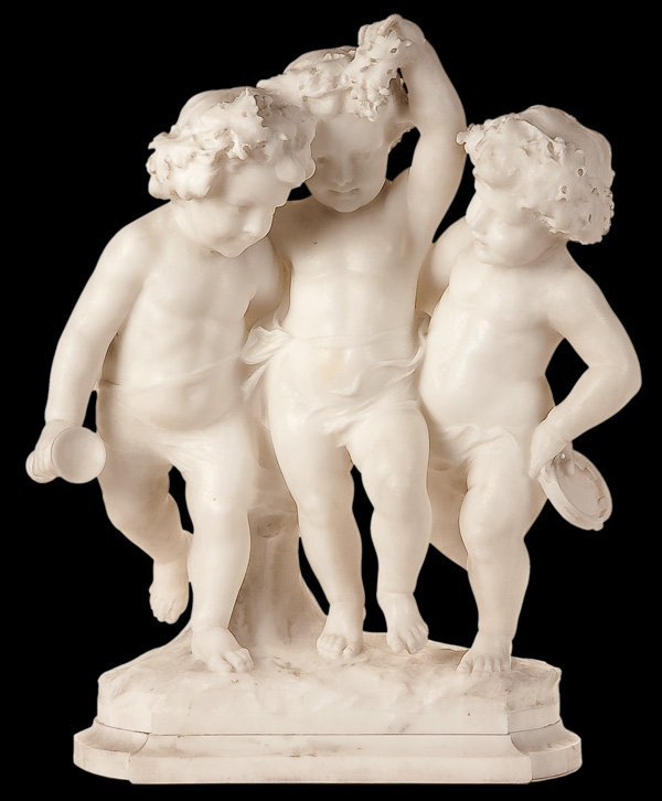 713: SCULPTURE BY GUGLIELMO PUGI (Italian 1850-1915)