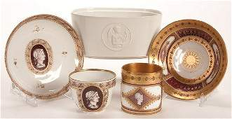 768 A ROYAL VIENNA SEVRES AND KPM PORCELAIN GROUP