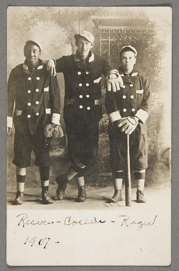 4: BLACK MEMORABILIA: BASEBALL REAL PHOTO POSTCARD