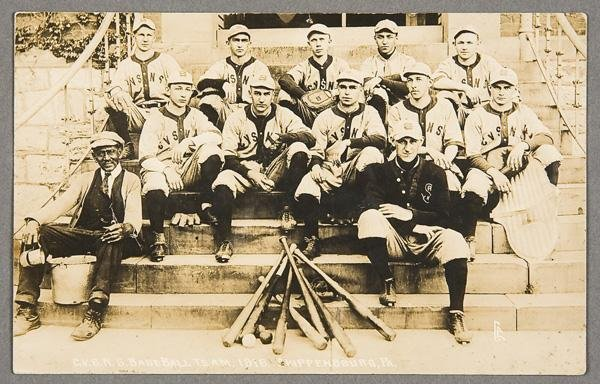 11: BLACK MEMORABILIA: BASEBALL REAL PHOTO POSTCARD