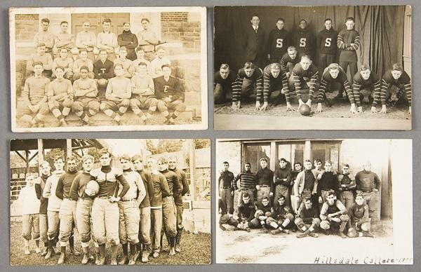14: BLACK MEMORABILIA: FOOTBALL REAL PHOTO POSTCARDS