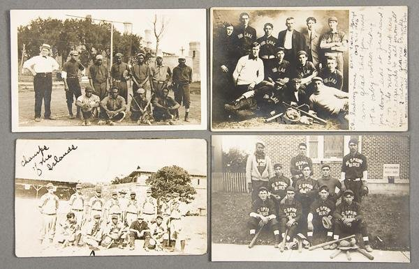 15: BLACK MEMORABILIA: BASEBALL REAL PHOTO POSTCARDS