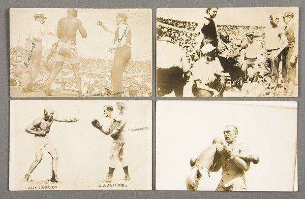 20: BLACK MEMORABILIA: BOXING REAL PHOTO POSTCARDS