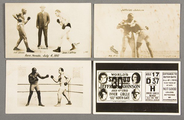 22: BLACK MEMORABILIA: BOXING REAL PHOTO POSTCARDS