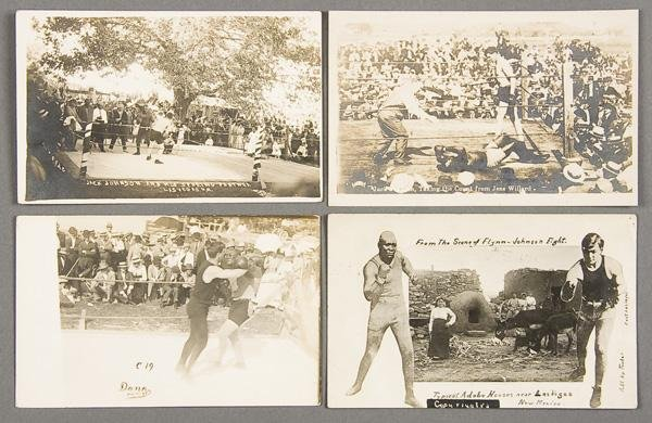 24: BLACK MEMORABILIA: BOXING REAL PHOTO POSTCARDS