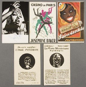 551: BLACK MEMORABILIA: JOSEPHINE BAKER POSTCARD