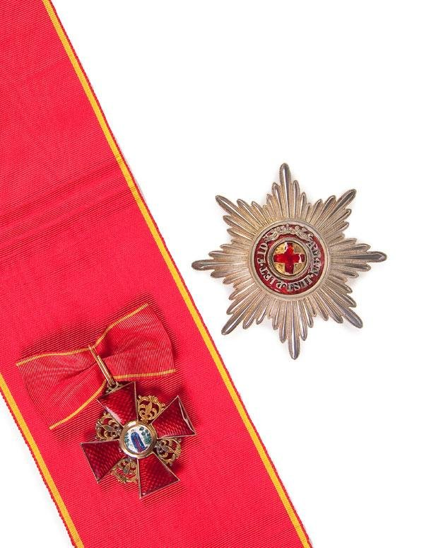 4: CASED IMPERIAL RUSSIAN ORDER OF ST. ANNE