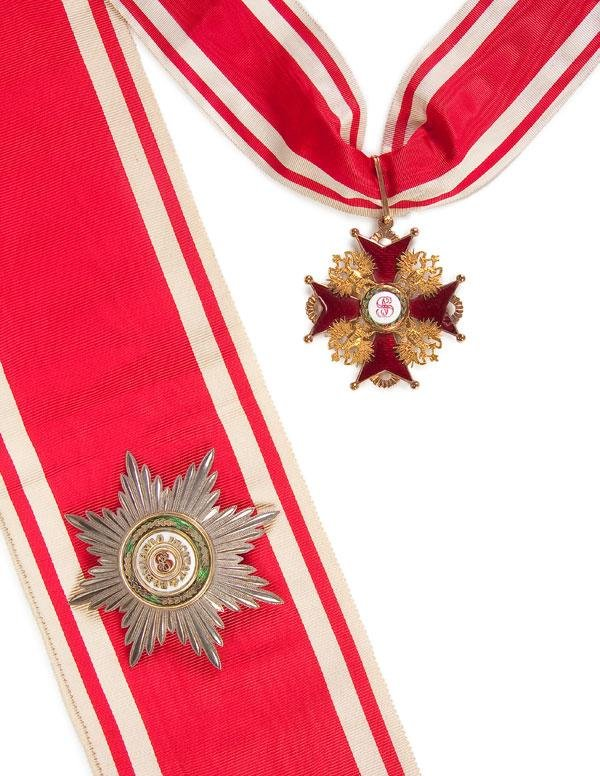 8: CASED IMPERIAL RUSSIAN ORDER OF ST. STANISLAS