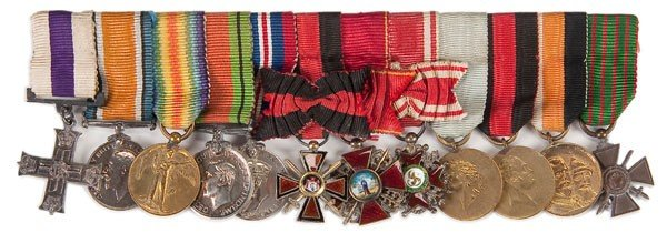 13: BRITISH MILITARY MINIATURE MEDAL GROUPING
