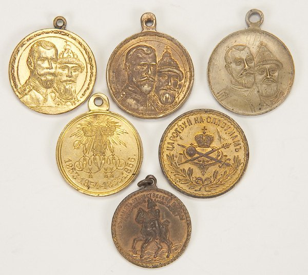 24: 6 IMPERIAL RUSSIAN MEDALS