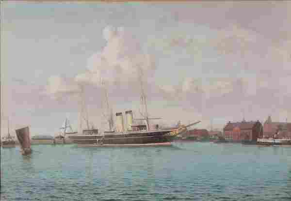 176: PAINTING OF THE IMPERIAL RUSSIAN YACHT