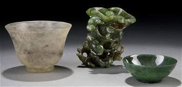3 ORIENTAL JADE ARTICLES