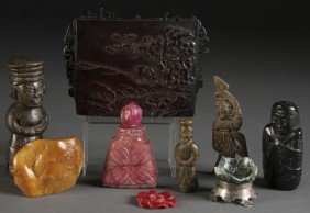 CHINESE CARVED DECORATIVE ARTS GROUP