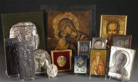 492 GREEK  RUSSIAN ICON GROUPING