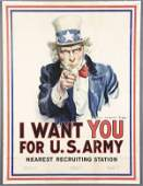 518: JAMES MONTGOMERY FLAGG UNCLE SAM POSTER