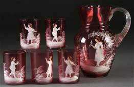 864: 6 PC MARY GREGORY STYLE BEVERAGE SET